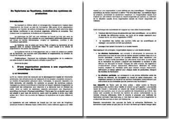 dissertation taylorisme fordisme