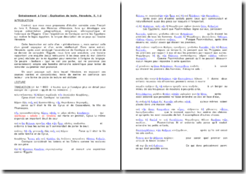 Explication de texte Hérodote Livre II, 1 et 2