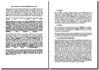 La force obligatoire du contrat : Cas pratique de M. Jean Le Tare