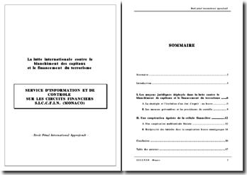 La lutte internationale contre le blanchiment des capitaux et le financement du terrorisme : SERVICE D'INFORMATION ET DE CONTROLE SUR LES CIRCUITS FINANCIERS S.I.C.C.F.I.N. (MONACO)