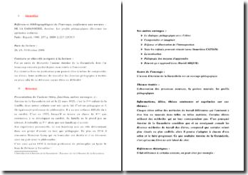 Les profils pédagogiques - Antoine de la Garanderie