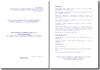Aménagements hydrauliques et développement dans la Vallée du Fleuve Sénégal