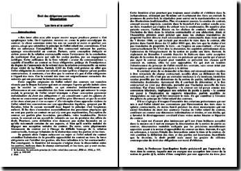 Les tiers et le contrat - Dissertation