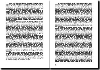 Explication de texte: les pensées de Pascal