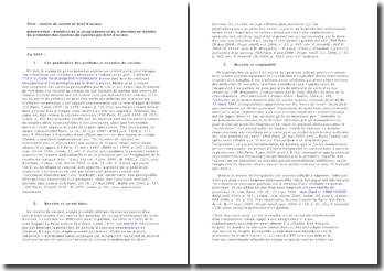 Recette de cuisine et droit d'auteur: évolution de la jurisprudence et de la doctrine en matière de protection des recettes de cuisines par droit d'auteur