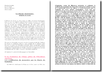 La réforme clunisienne: origine et essor
