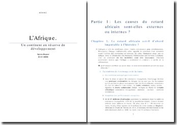 Résumé du livre L'Afrique de Sylvie Brunel