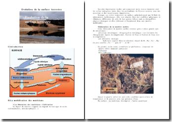 Évolution de la surface terrestre