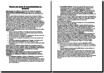 Théorie des droits de propriété(Alchian et Demsetz)