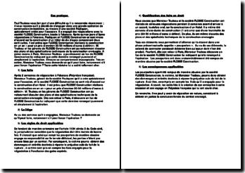Droit contractuel: cas de la société Pouliquen