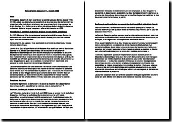 Fiche d'arrêt Cass.civ 1ère, 3 avril 2002