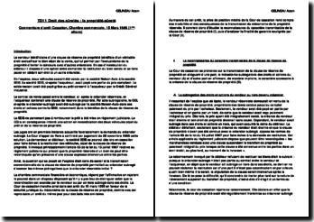 Droit des sûretés : la propriété-sûreté, commentaire d'arrêt Cassation, Chambre commerciale, 15 Mars 1988 (1ère affaire)