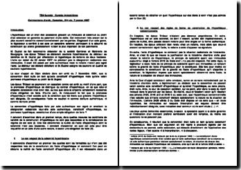 Suretés immobilières: Commentaire d'arrêt, Cassation, 3ème civ. 7 janvier 1987