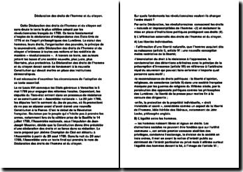 Déclaration des droits de l'homme et du citoyen - libertés individuelles et égalité, droits protégés