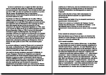 Rapport de Saint-Just : constitution d'un gouvernement révolutionnaire