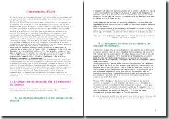 Commentaire d'arrêt du 7 mars 1989 - La responsabilité et le contrat