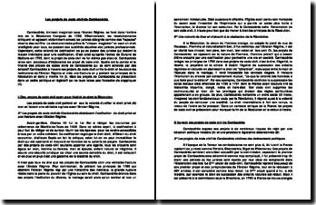 Les projets de code civil de Cambcérès