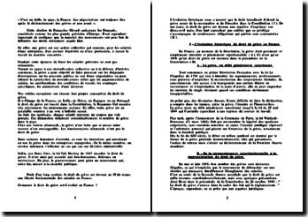 Droit social: l'évolution du droit de grève en France