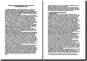 Discours pour la restauration des écoles d'Autun, 298 (Panégyriques latins, V, 4)