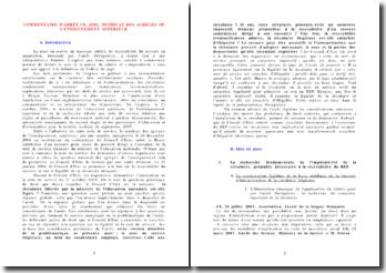 COMMENTAIRE DE L'ARRET CE, 2006, SYNDICAT DES AGREGES DE L'ENSEIGNEMENT SUPERIEUR