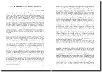 CAHUC & ZYLBERBERG, Le chômage, fatalité ou nécessité ? (2005)