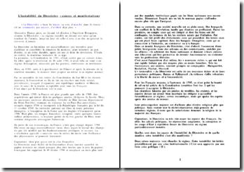 L'instabilité du Directoire : causes et manifestations