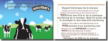 Étude stratégique de la politique marketing de Ben and Jerry's
