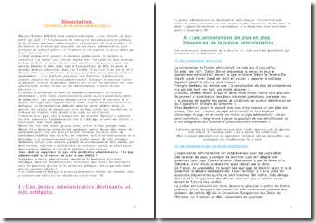 Dissertation - L'évolution de la justice administrative - Le juge administratif est-il encore utile ?