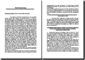 Commentaire d'arrêt: CE, Ass., 2 mars 1994, SA La Cinq