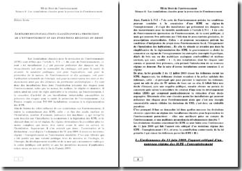 Le régime des installations classées pour la protection de l'environnement et les évolutions récentes du droit