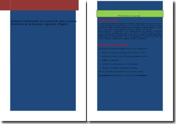 Analyse fonctionnelle d'un projet de mise à niveau d'intranet de la direction régionale d'Agadir