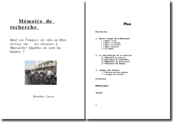 Quel est l'impact du vélo en libre service sur les citoyens à Marseille? Quelles en sont les limites ?