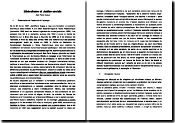 Jean-PIerre Dupuy - Libéralisme et Justice Sociale