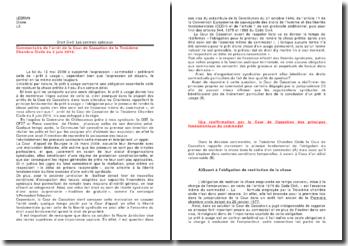 Droit Civil: Les contrats spéciaux - Commentaire de l'arrêt de la Cour de Cassation de la Troisième Chambre Civile du 3 juin 2010.