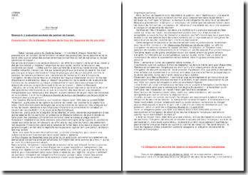 L'exécution normale du contrat de travail Commentaire: De la Chambre Sociale de la Cour de Cassation du 29 juin 2003
