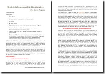 Droit de la Responsabilité Administrative