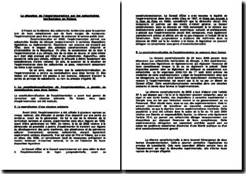 La situation de l'expérimentation par les collectivités territoriales en France