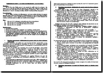 Explication linéaire II, 9 Le Lion et le Moucheron in Fables de La Fontaine