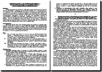 Explication de texte : « De l'institution des enfants » : de « Le parler que j'aime » à « aux halles à Paris. » (Livre I, chapitre XXVI, p.349-350) in Essais.