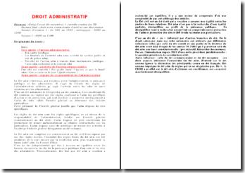 L'action administrative: présentation, contrôle et régime de responsabilité
