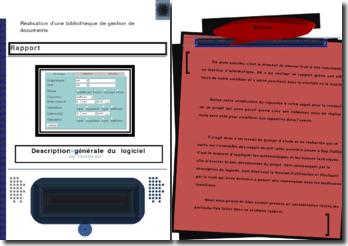 Réalisation d'une bibliothèque de gestion de documents