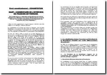 Commentaire de l'interview de François Mitterrand