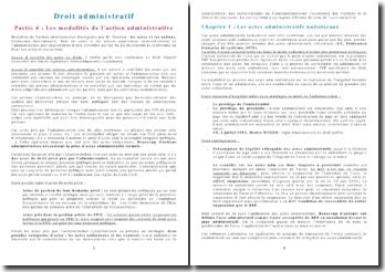 Cours de droit administratif semestre 2