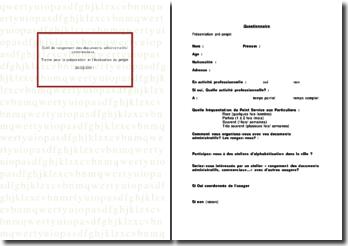 Outil de rangement des documents administratifs et commerciaux (2011)