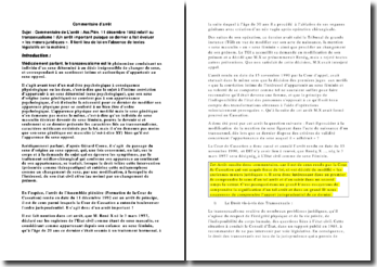 Commentaire de L'arrêt : Ass.Plén. 11 décembre 1992 relatif au transsexualisme