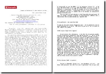Résistance parlementaire à l'Absolutisme : théorie et pratique