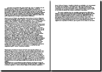 La Guerre Dans Un Corpus Dextraits De 4 Textes Candide