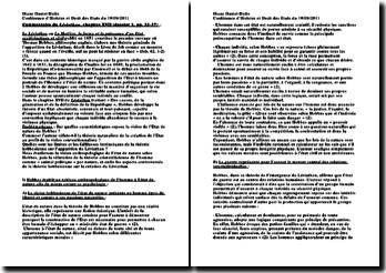 Commentaire du chapitre XVII du Léviathan (Hobbes)