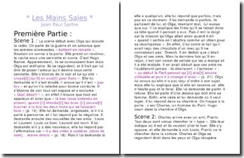 Résumé chronologique Les mains sales - Jean-Paul Sartre