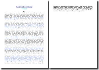 Résumé chronologique de Maitre et serviteur - Tolstoi